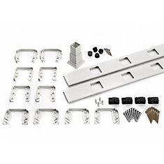 6 ft. - Infill Rail Kit for Square Balusters - Horizontal - White