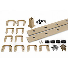 6 ft. - Infill Rail Kit for Round Aluminum Balusters - Horizontal - Rope Swing