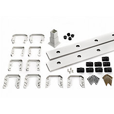 6 ft. - Infill Rail Kit for Round Aluminium - Balusters - Stair White