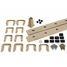 6 ft. - Infill Rail Kit for Round Aluminum Balusters - Stair - Rope Swing