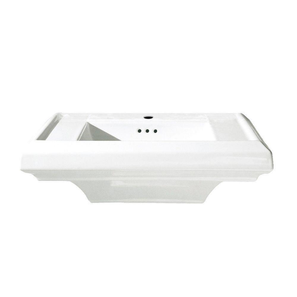 American Standard Town Square 24 Inch  Pedestal Sink, White