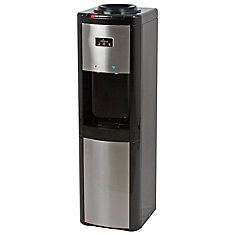 Top Load Water Dispenser (H/R/C) Black & Stainless