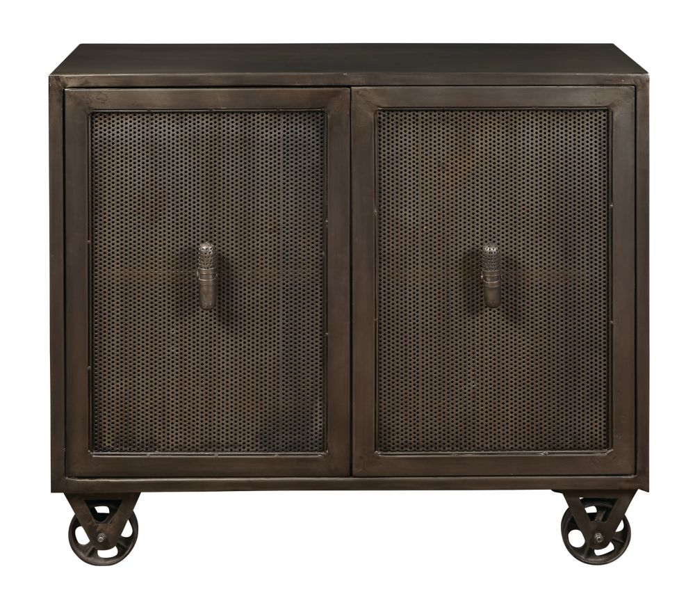 Pulaski Hyde Two Door Accent Chest with Trolly-Style Wheels