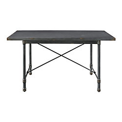 Pulaski Industrial Metal Top Dining Table