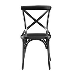Pulaski Distressed Antique Metal Dining Chair in Black