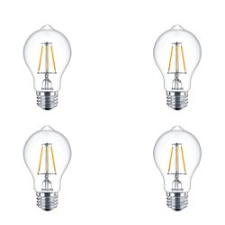 Philips LED 60W A19 Filament Daylight - Case of 4 Bulbs