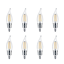 Philips LED 40W Chandelier Filament Daylight - Case of 8 Bulbs