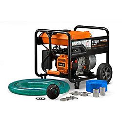 Generac 5HP 2 po. Pompe à eau semi-ordinaire à essence avec kit de tuyaux
