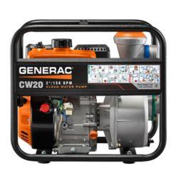 Generac 5HP 2 po. Pompe à eau propre à essence