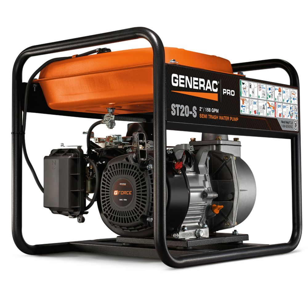 Generac 5.7HP 2 in. Gas Powered Semi Trash Pump
