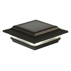 Classy Caps Imperial 5 inch x 5 inch Outdoor Black Cast Aluminum LED Solar Post Cap