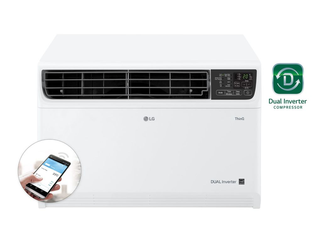 LG 14,000 BTU 115-Volt Dual Inverter Smart Wi-Fi Window Air Conditioner with Remote LW1517IVSM