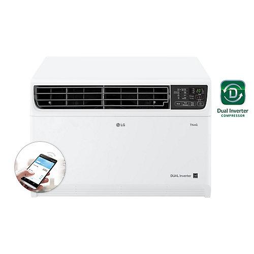 Climatiseur de fenêtre Wi-Fi intelligent à double onduleur de 14 000 BTU 115V avec télécommande