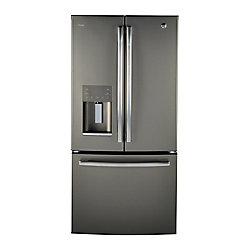 GE Profile 17.5 Cu.Ft. Counter Depth French Door Refrigerator - Gray