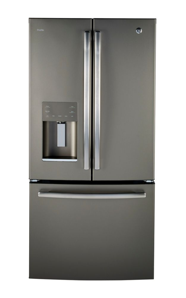 GE Profile 17.5 Cu.Ft. Counter Depth French Door Refrigerator - Gray