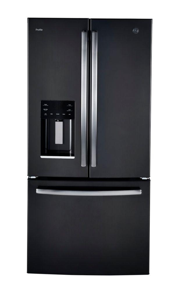 GE Profile 17.5 Cu.Ft. Counter Depth French Door Refrigerator - Black