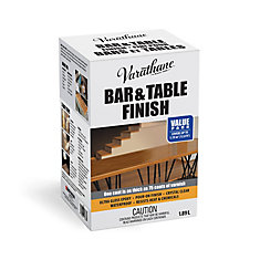 Bar & Table Ultra Thick Clear Gloss Epoxy Pour-On Wood Finish and Preservative Kit 1.89 L