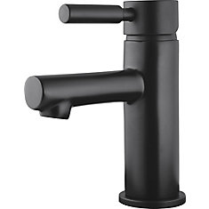 Struct Single Handle Lavatory Faucet in Matte Black