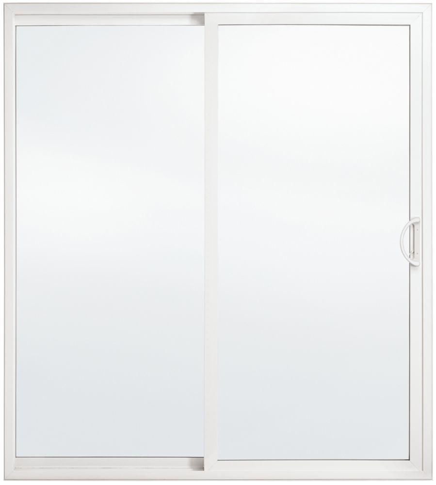 JELD-WEN Windows & Doors Premium Tripane, LowE, Energy Efficient, 5 ft. Vinyl Sliding Patio Door RH east - ENERGY STAR®