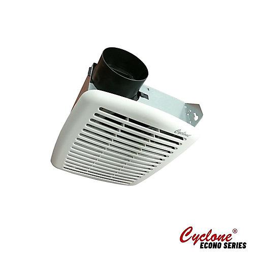 Les ventilateurs pour les salles de bains HushTone de Cyclone, 50 PCM, 3.5 sones, 3 po collier