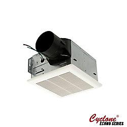 Cyclone Ventilateur de bain Hustone, 80 CFM, 1.7 sones, collier de 4 pouces, ventilateur d'évacuation facile à installer