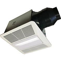 Cyclone Hushtone Quiet Series, 110 CFM, 0.9 sones, bath fan with humidity sensor and light