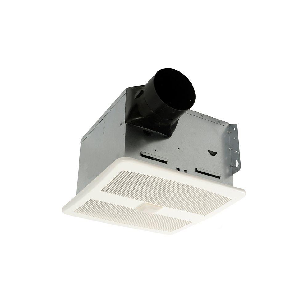 Ventilateur de salle de bains silencieux avec capteur de mouvement, 16  pi16/min, 16,16 sone