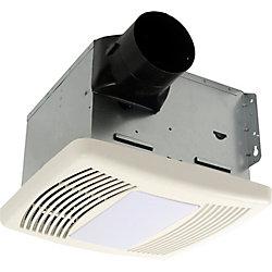 Cyclone HushTone Quiet Series, 150 Cfm, 1.1 Sones, Bath Fan With Humidity Sensor And Light