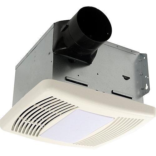 Série Silencieux, 150 Cfm, 1.1 Sons, ventilateur de bain avec capteur d'humidité et lumière