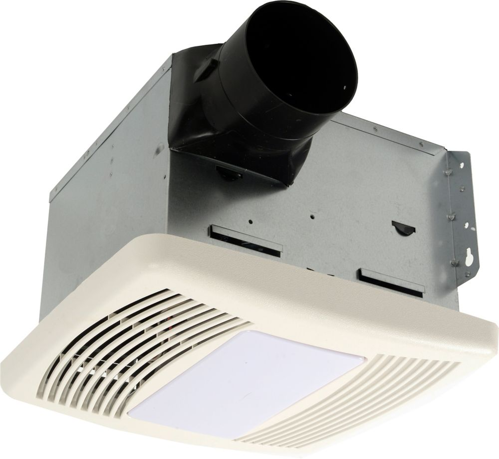 Cyclone HushTone Cyclone Hushtone Quiet Series, 150 CFM, 1.1 sones, bath fan with humidity sensor and light