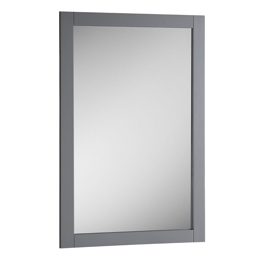 Fresca Bradford 20 in. W x 30 in. H Framed Wall Mirror in Gray Finish