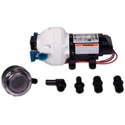 Flojet 12 V Water Pump 2.9 GPM &  Strainer Bundle