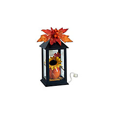 12-inch Lantern with Lights Harvest or Halloween Decoration