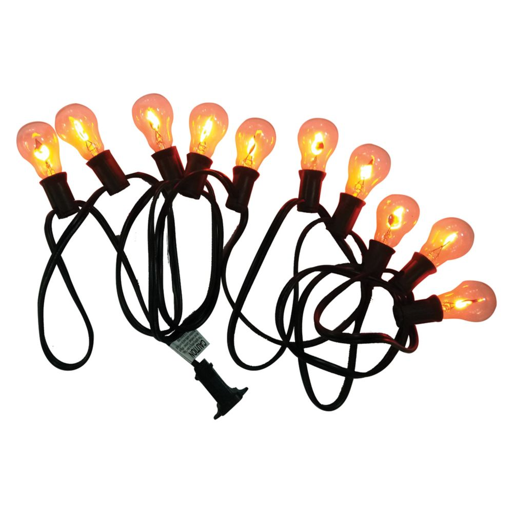HAL 10-Light Flickering Flame A30 Halloween Lights