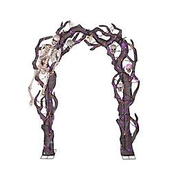 HAL 8.5 Ft. Skeleton Archway Loween Decoration