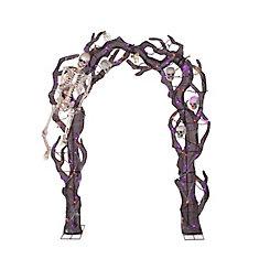 Arcade avec squelettes pour décoration d'Halloween, 8,5 pi