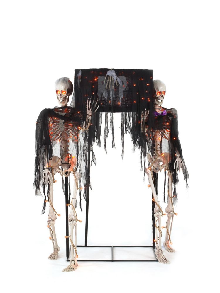 HAL Skeletons Carrying Coffin Halloween Decoration