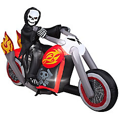 Faucheuse à moto gonflable décorative