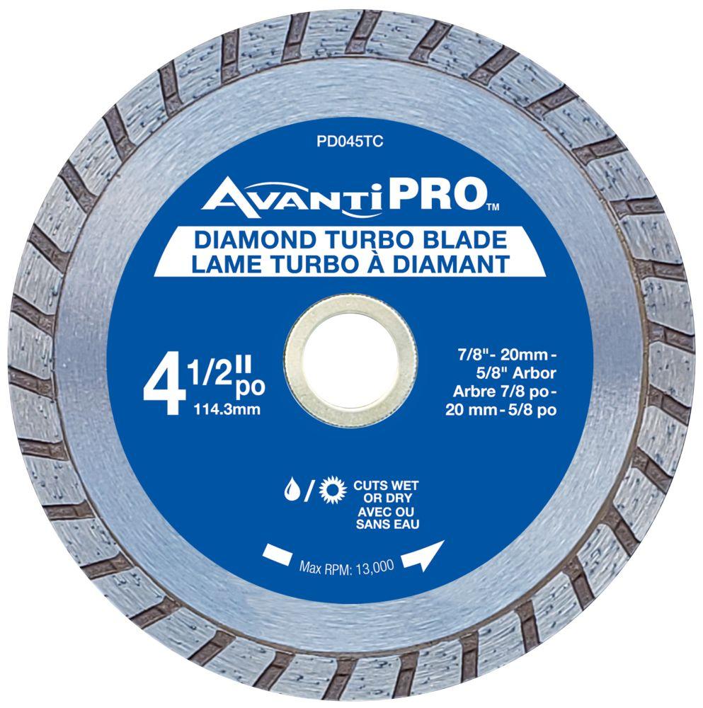 Avanti Pro 4.5 inch Turbo Diamond Blade