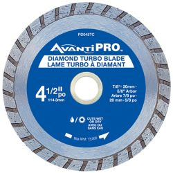 Avanti Pro 4.5 inch Turbo Diamond Blade