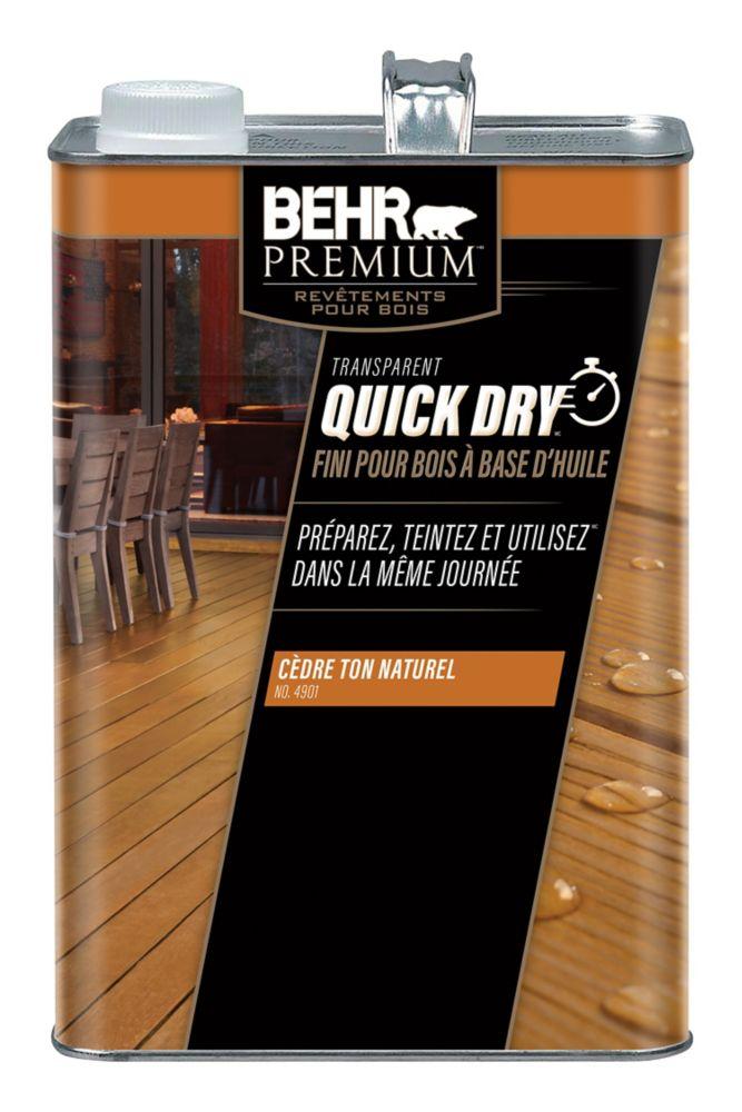 Behr Premium Fini pour bois à base d'huile Quick Dry, ton naturel de cèdre
