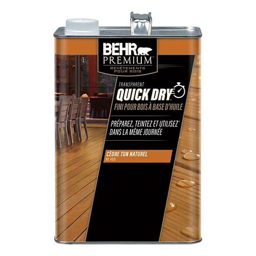 Behr Premium Quick Dry Oil Base Wood Finish in Cedar Naturaltone