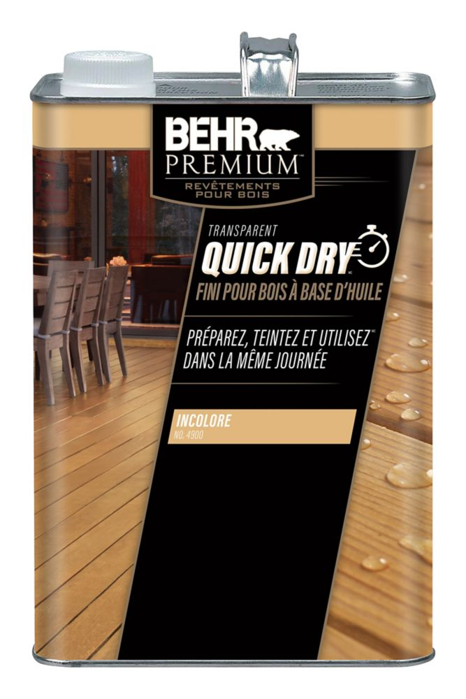 Behr Premium Quick Dry Exterior Oil Based Wood Finish in Clear