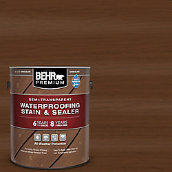 Behr Premium Semi-Transparent Waterproofing Chocolate Stain & Sealer, 3.79L