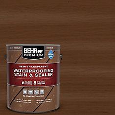 Semi-Transparent Waterproofing Chocolate Stain & Sealer, 3.79L