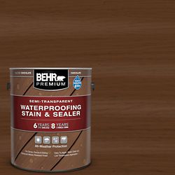 Behr Premium Semi-Transparent Waterproofing Chocolate Stain & Sealer, 3.79L