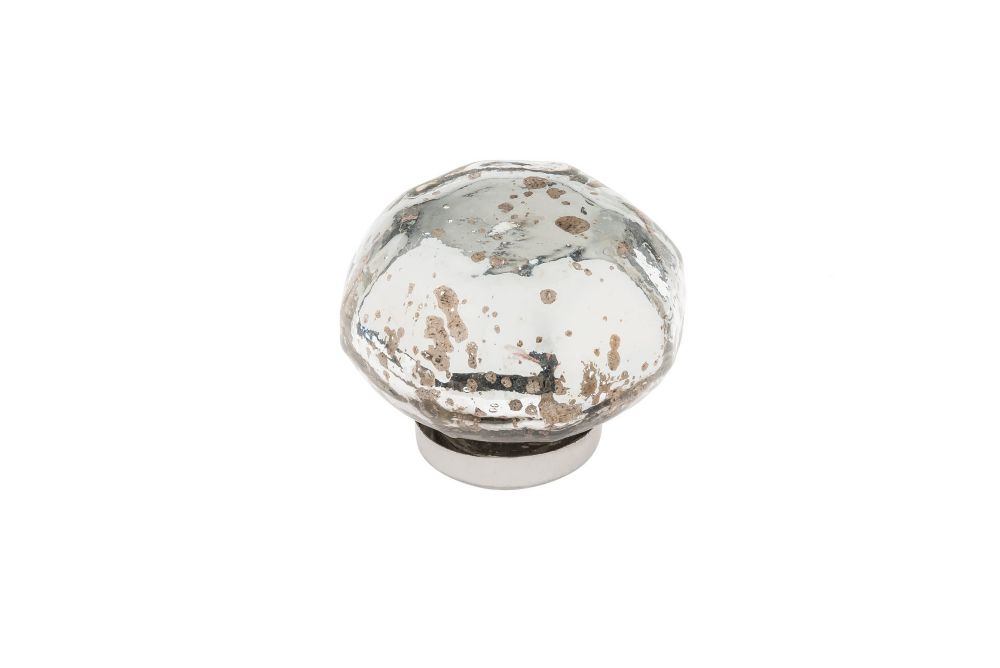 Richelieu Hardware Eclectic Glass Knob 1 23/32 inch. (44 mm) Dia - Antique Mirror - Vegas Collection