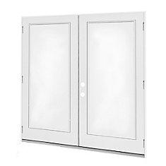 5 ft.  French Door, 1 Lite Door Glass, LowE Argon, RH,  Outswing, 4  9/16 inch Jamb,  West