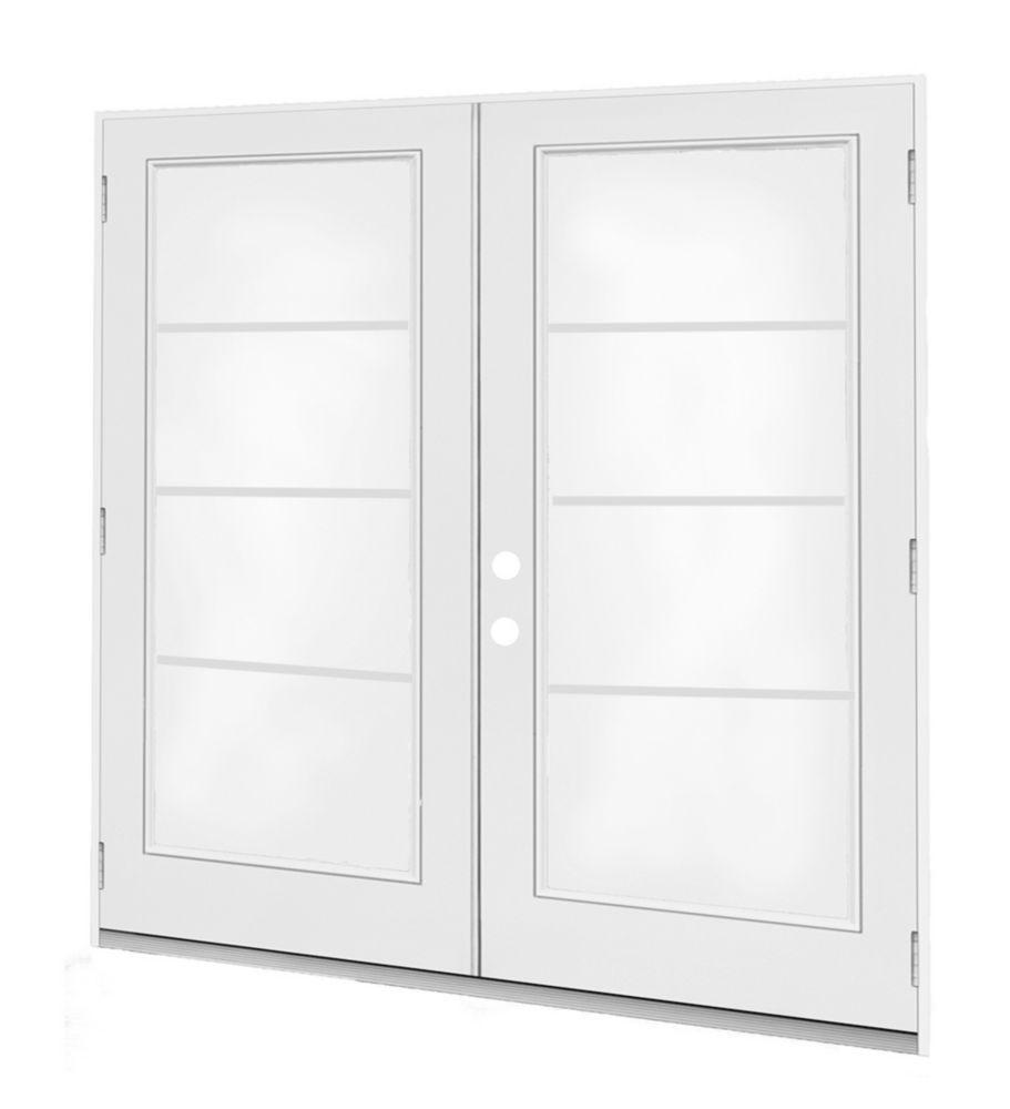 5 ft.  French Door, 4 Lite Door Glass, LowE Argon, RH,  Outswing, 4  9/16 inch Jamb,  West - ENERGY STAR®