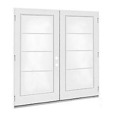 5 ft.  French Door, 4 Lite Door Glass, LowE Argon, LH,  Outswing, 4  9/16 inch Jamb,  West